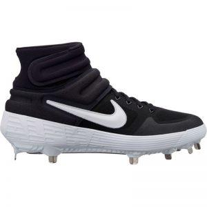 Nike Alpha Huarache Elite 2 Mid Metal Baseball cleats Black white