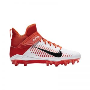 Nike Alpha Pro Mid 2 plastic cleats | Orange
