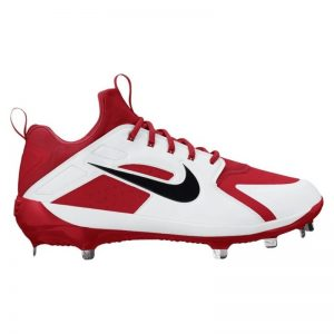 Under Armour Yard Low DT Metal Baseball cleats White and Red
