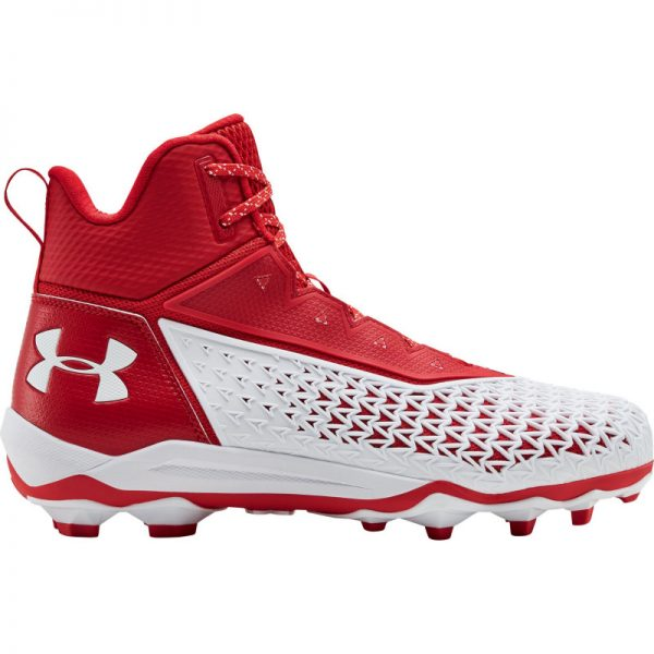 Under Armour Hammer Mid MC rubber Cleats | Red