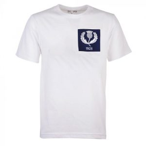 Scotland Thistle 1925 Rugby Vintage T-Shirt White