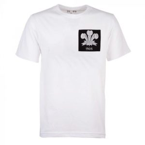 Wales Feathers 1905 Rugby Vintage T-Shirt white